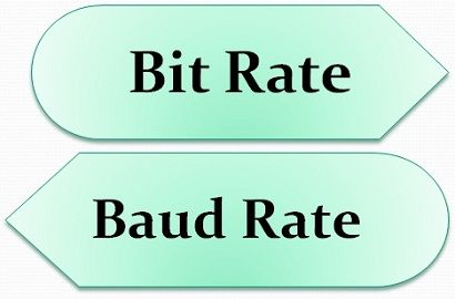 Difference between Bit rate and Baud rate