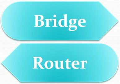 diffrence between bridge and router