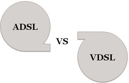ADSL (Asymmetric Digital Subscriber Line) and VDSL (Very High Bitrate  Digital Subscriber Line) mainly differ in the speed of data transmission or  data rate d8f8f62e8b2bb