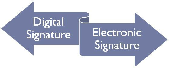 Image Result For Digital Signature Vs Electronic Signature