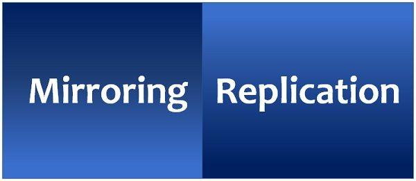 mirroring vs replication