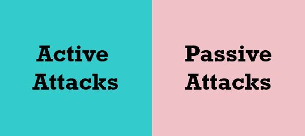 active attacks vs passive attacks