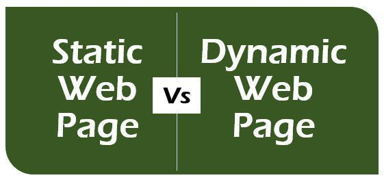 difference between static and dynamic web pages with comparison