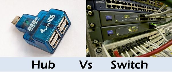 Difference Between Hub and Switch (with Comparison Chart) - Tech