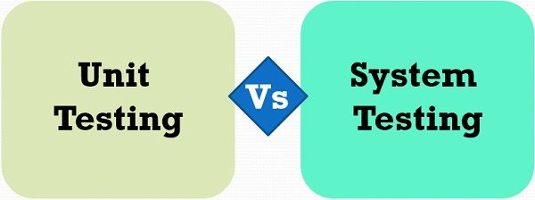 unit testing vs system testing