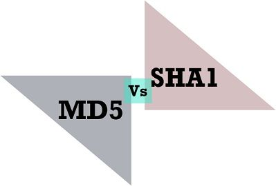 MD5 vs SHA1