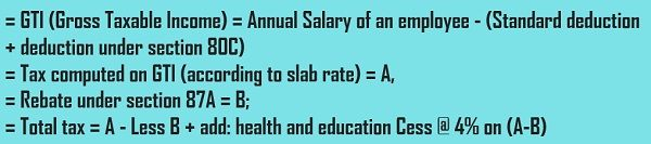 Tax calculation - ex