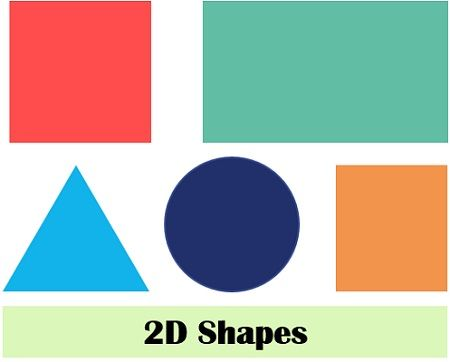 2D shapes examples