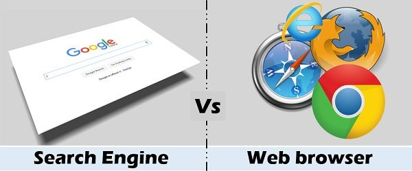 search engine Vs web browser
